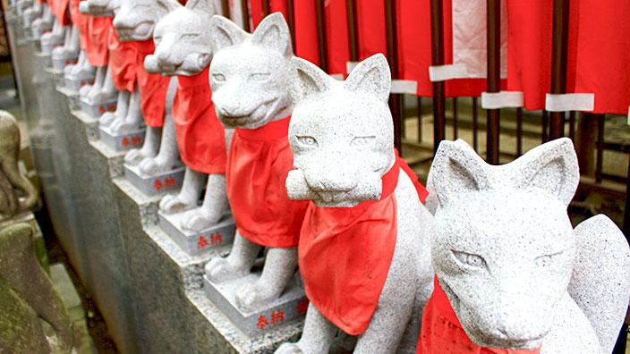 稲荷神社の狐イメージ