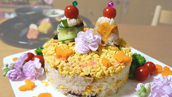 雛祭りのちらし寿司イメージ