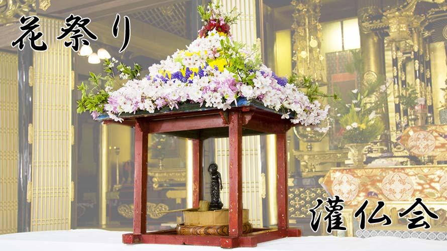 4月8日灌仏会(花祭り)はお釈迦様の誕生日<br/ >-甘茶をかける理由、花を飾る意味とは