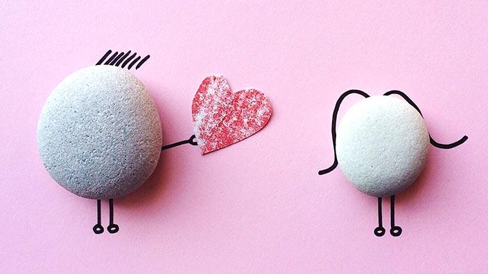 欧米式バレンタインデーのイメージ
