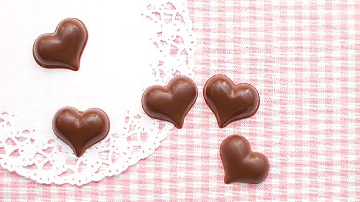 ハートのバレンタインチョコレートイメージ