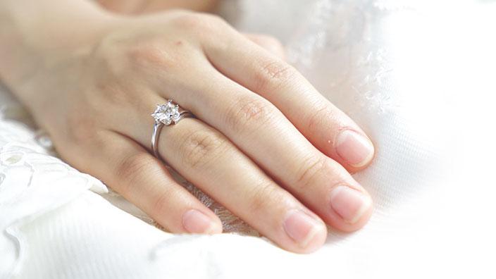 婚約指輪(エンゲージリング)のイメージ
