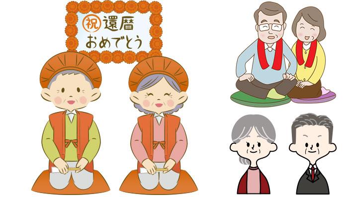 還暦の赤いちゃんちゃんこイメージ