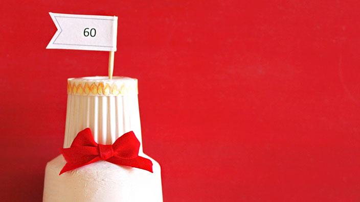 還暦(60歳)祝いのケーキ