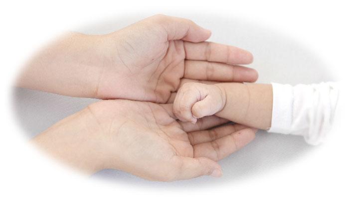 赤ちゃんの手イメージ