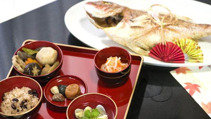 お食い初めの祝い膳イメージ