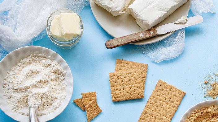 チーズケーキの材料たちイメージ