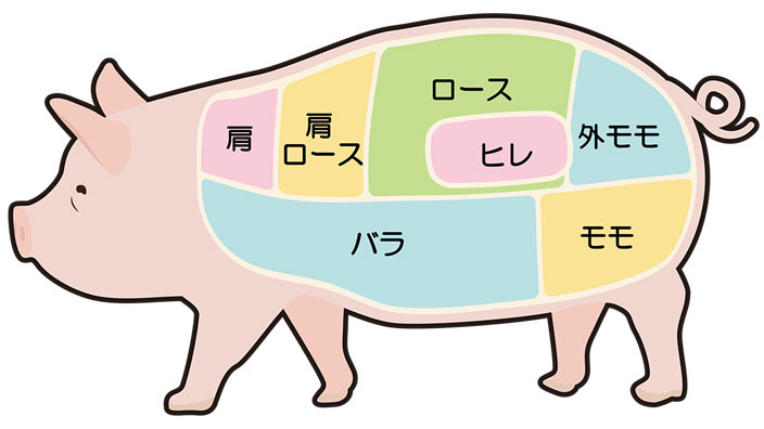 豚肉の部位と名称