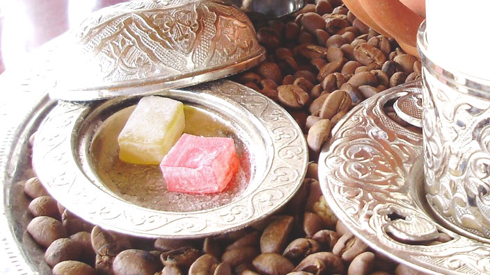 トルコのターキッシュ・ディライト(ロクム)イメージ画像